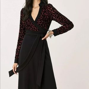 New Diane von Furstenberg Velvet  Wrap Dress